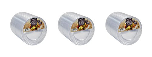 """Members Mark Clear Plastic Plates, 6.25"""", 3Pack of 110 ct"""