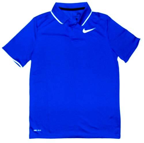 NIKE Dry Boys Golf Polo Shirt Short Sleeve Blue (Large) (Nike Collared Shirts)