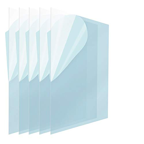 Icona Bay PET Plastic Replacement for Picture Frame Glass (5 x 7, 5 Pack) PET is The Ideal Replacement Glass Material to Avoid Shattering Glass