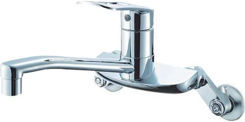 SANEI キッチン用 シングル混合栓 上向きパイプ エコ 節約 寒冷地用 K2710EK-13