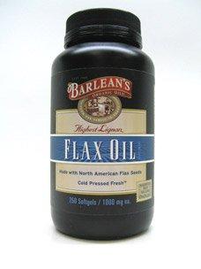 BARLEANS Lignan Rich Flax Oil 1000 MG, 250 CT Barleans Lignan Rich Flax Oil