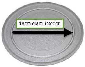 Europa Recambios - Plato Microondas 245mm. Liso Adecuado para Fagor LG 3390W1G005A