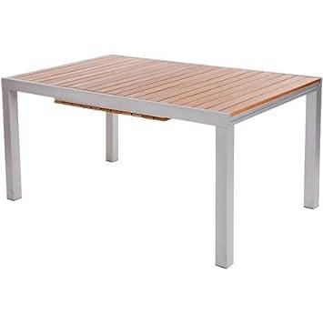 Gartentisch alu holz  Gartentisch Mallorca ausziehbares Holz / Aluminium 221 x 90 cm ...
