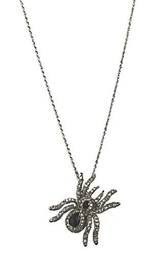 Ganz Halloween Women's Metal Jeweled Spider Necklace Sold Separate (Tarantula) ()