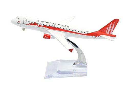 TANG DYNASTY 1/400 16cm エアアジア AIR ASIA エアバス A320 Mahathir 高品質合金飛行機プレーン模型 おもちゃ