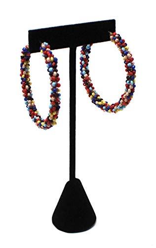 Trend 36 Beaded Hoop Earrings (Rainbow)
