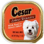 Cesar Select Dinners for Small Dogs with Beef in Meaty Juices, My Pet Supplies