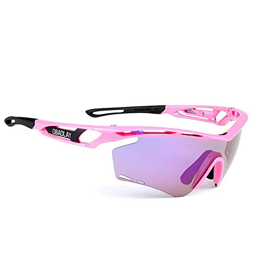 HYHMJ Bicycle Goggles, Motorcycle Goggles Ski Goggles Outdoor Sports Anti-Wind and Sand Polarized Sunglasses Riding Glasses Convertible Lenses can be Fitted with Headband,C