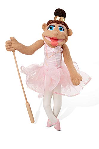 Melissa & Doug Ballerina Puppet - Full-Body with Detachable Wooden Rod for Animated Gestures, -