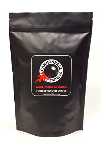 Maximum Charge Strong Coffee | Lab Certified World's Most Caffeinated Coffee | 1101mg Caffeine | Extremely High Caffeine Coffee from Robusta Coffee Beans | Whole Bean | 1lb