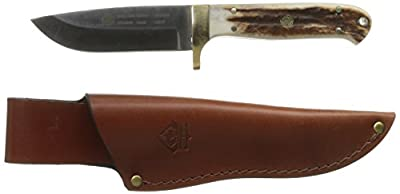 Puma Elk Hunter Stag Handle Hunting Knife, 4.2-Inch