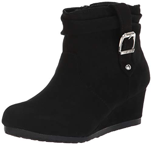 Nine West Girls' KATYAH Ankle Boot, Black, M050 M US Little - West Nine Boots Rubber