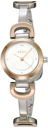 DKNY Women's City Link Quartz Watch with Stainless-Steel-Plated Strap, Multi, 5 (Model: NY2749)