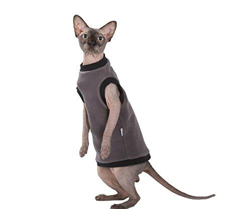 Kotomoda Katzen Kleidung Pullover Taup Fleece