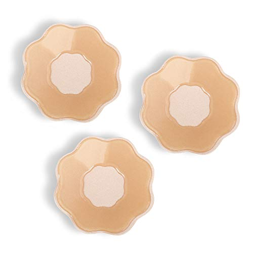 2 Pair NippleCovers & Reusable Breast Petals Adhesive Silicone Covers & Pasties for Women Nipple Covers