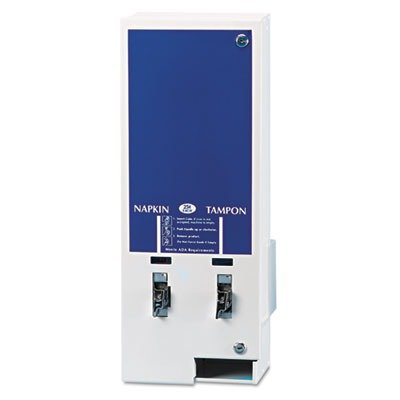 HOSED125 Electronic Vendor Dual Sanitary Napkin/Tampon Dispenser, Coin Operated, Metal