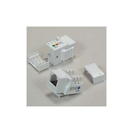 amazon com rj11 12 (cat 3) 110 type keystone jack white home phono wiring diagram rj11 12 (cat 3) 110 type keystone jack white
