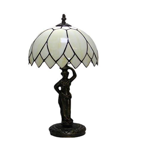 Tiffany Style Desk Lamp/Reading Light,Lotus Leaf Euro Create Stained Glas Desk Light,Bedchamber Bedside Light Parlour Study Bar,Cafe, Decorated Motif Light, BOSS LV