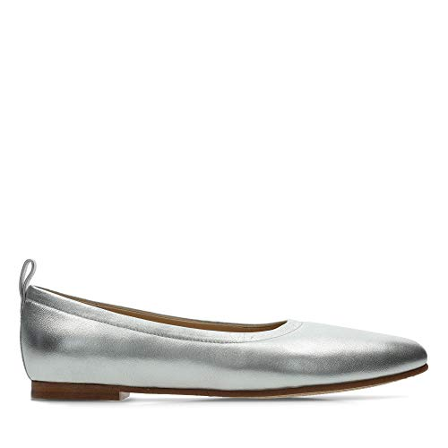 Clarks Leather Grace in Shoes Mia Silver wqpFxwr