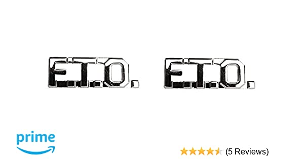 FTO Collar Insignia Silver//Nickel - 1 PAIR No Shine Field Training Officers