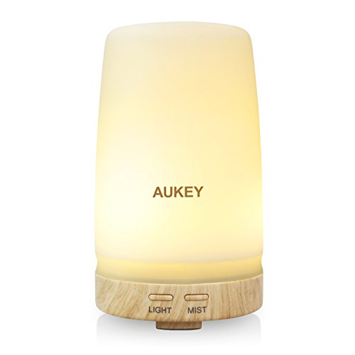 AUKEY Essential Oil Diffuser 100ml Ultrasonic Cool Mist Aroma Humidifier with Waterless Auto Shut-off Function