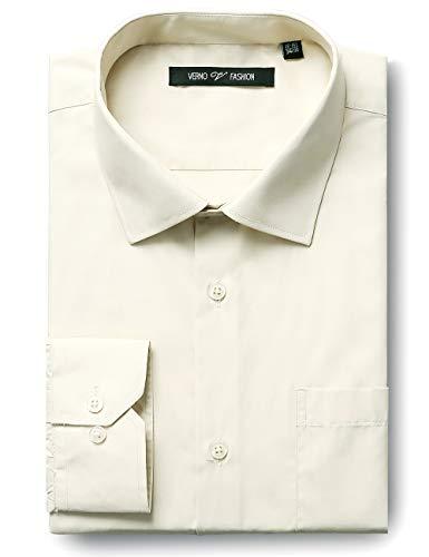 - Verno Luxton MensFashion(Regular) Fit Long Sleeve Dress Shirt, 16-16 1/2