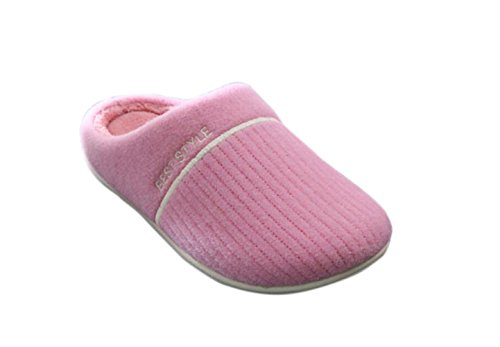 Kus Goud (tm) Unisex Zachte Fleece Gevoerde Wasbare Slip Op Huis Pantoffels Roze