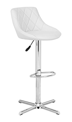 Stool Swivel Height Express Adjustable (Zuo Devilin bar Chair White)