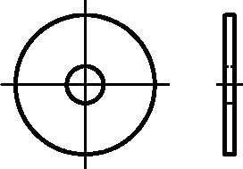 galv 100 St/ück verzinkt Dresselhaus 0//2104//001//8,4//30// //02 Kotfl/ügelscheiben St/ärke 1,25 mm 8,4 x 30