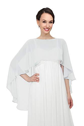 Shawls and Wraps for Evening Dresses Chiffon Wedding Capes Soft Shrugs White