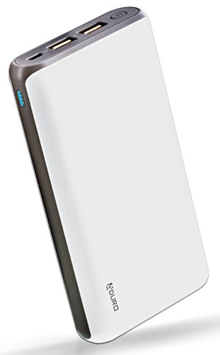 Aduro 20,000mAh Battery Pack Power Bank, External Battery Charger Compatible with iPhone Android Smartphone Tablet Portable Power Backup Charges Any USB Device (White) (Best Portable Charger For Kindle Fire)