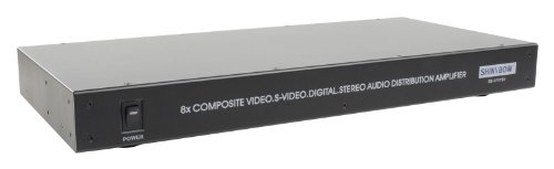 1x8 SV/Video/Audio/Digital Distribution Amplifier - S-video Shinybow