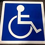 ADA Wheelchair Symbol for Handicap Parking Spaces - Self-Adhesive Mat