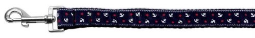 Mirage Pet Products Anchors Nylon Ribbon Leash Blue 1 inch Wide 6ft Long by Mirage Pet Products