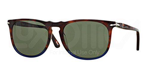 Persol PO3113S 102231 Brown / Blue PO3113S Wayfarer Sunglasses Lens Category - Sunglasses Oceano