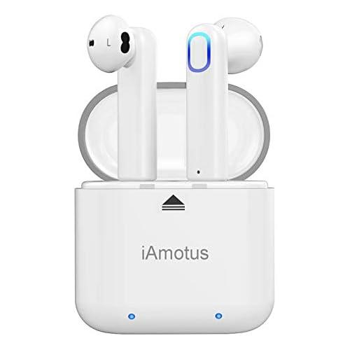 chollos oferta descuentos barato Auriculares Bluetooth iAmotus Auriculares Inalámbricos Bluetooth 5 0 TWS Auriculares Bluetooth Deportivos con Micrófono Cancelación de Ruido CVC 8 0 Cascos Bluetooth Inalambricos para iOS y Android