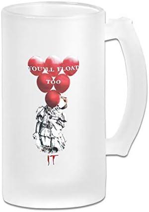 ジョッキ ビールグラス ホッピージョッキ ペニーワイズ イット ビアグラス ガラスジョッキ マグカップ コーヒーカップ 片手コップ オフィス タンブラー プレゼント 飲み物 CUP 贈り物 シンプル おしゃれ 500ML 飲み会