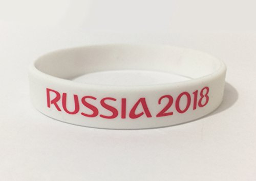 Russis 2018 World Cup Wrist Band White - Fans Silicone Wristband ID Bracelet Bangle Souvenir Gift. 2018 World Cup...