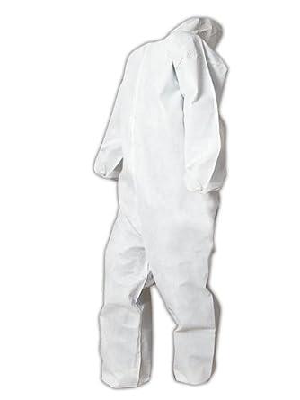 Magid EconoWear Lite N Kool Plus Polypropylene Coverall with Hood, Disposable, Elastic Cuff, White