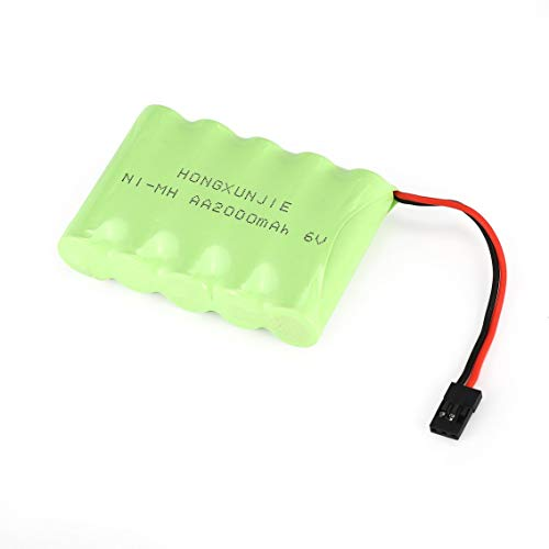Ah NiMH Side Battery Pack for RX Receiver RC Cars Futaba Hitec JR ()
