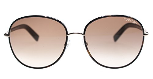 Tom Ford - GEORGIA FT 0498, Géométriques, métal, femme, DARK HAVANA/LIGHT BROWN SHADED(52F), 59/17/140