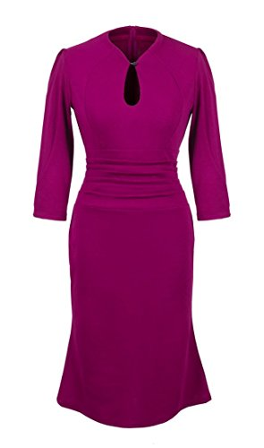 Vestito Donne Cocktail Bodycon Longuette Onsalewear Delle 5 Puple Party Annata Sirena rqSxr