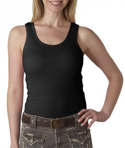 Bella+Canvas Ladies' Baby Rib Tank Top - Black - M