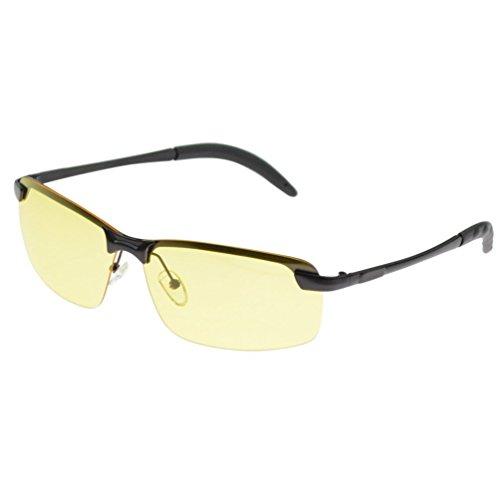 sol de Gafas amarillo para Gratis Wuudi hombre Amarillo xE74Uqpwnw