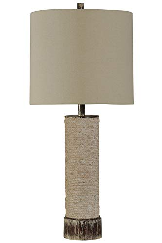 Palm Buffet Table Lamp - Delacora SC-DE-A166 Palm Bay 34'' Tall Buffet Table Lamp with Hardback Fabric Shade