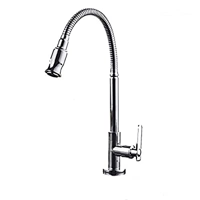 360 Rotatable Single Cold Water Flexible Kitchen Bar Bathroom Sink Faucet
