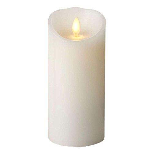 Classic Pillar Candle (Luminara Classic 3 in. W x 6 in. H White Pillar Candle with Timer)
