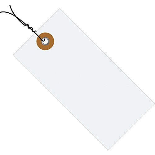 Quality Park G13063 Tyvek Spunbonded Olefin Pre-Wired Shipping Tag, 5-1/4'' Length x 2-5/8'' Width, White (Case of 1000) by Tyvek