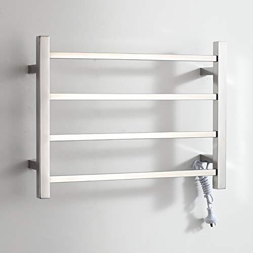 Dayangiii Wall Mounted Heater Rail Portable Electric Heated Towel Rail Towel Warmer Laundry Towel Rail Warmer Lightweight with 4 Heated Bars