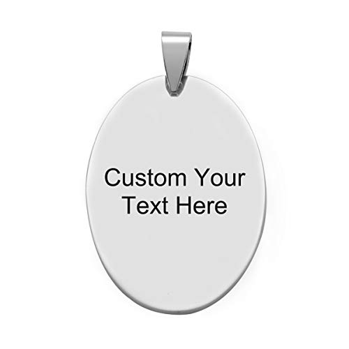 5PCS Bulk Engraved Stainless Steel Oval Charms Pendant Custom Stamping Blanks Tags 4.2x2.5cm